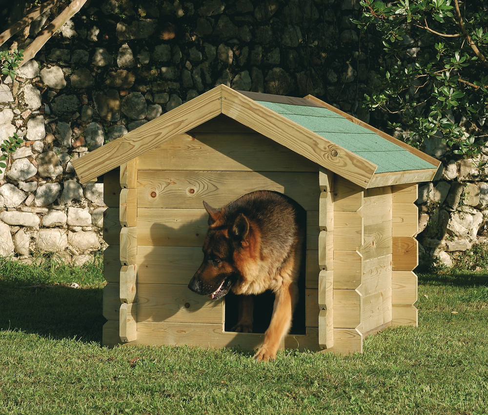 Legnolandia arredo giardino cuccia per cani for Recinto in legno per cani