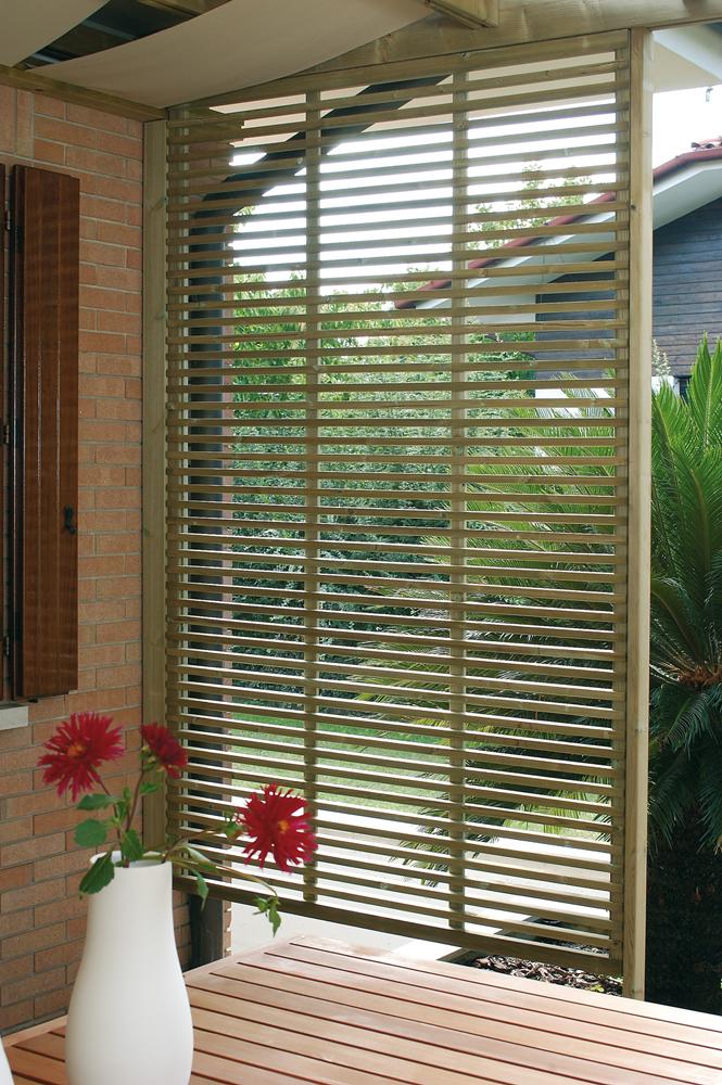 Legnolandia arredo giardino frangivista in legno mod for Arco per rampicanti leroy merlin