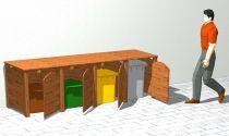 Idea sostenibile per la raccolta differenziata