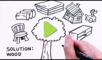 VIDEO: Utilizzo del legno per il bene dell'ambiente.