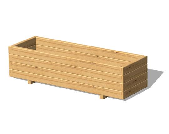 Legnolandia arredo giardino fioriera in legno mod domino for Portafiori in legno