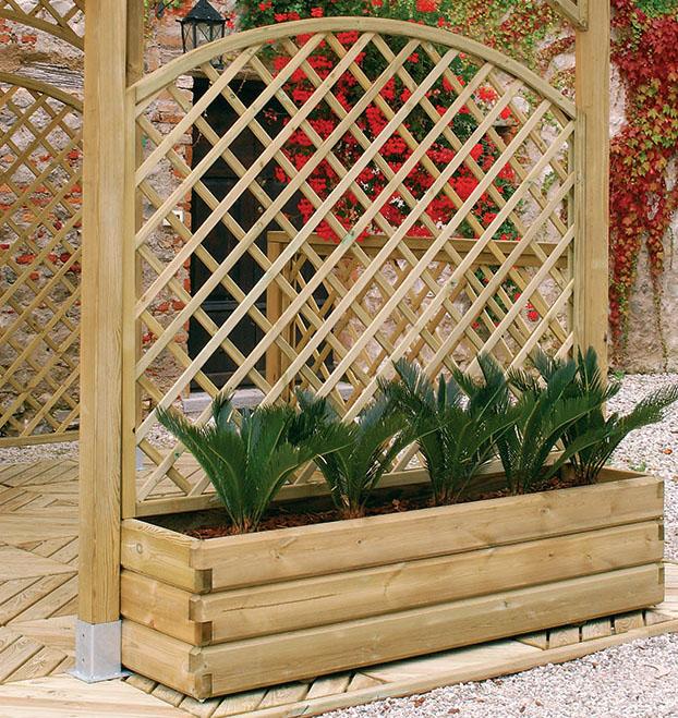 Legnolandia arredo giardino fioriera in legno mod quadro for Arredo giardino in legno